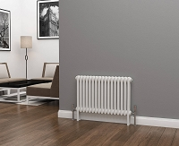 Eastgate Lazarus 2 Column White Horizontal Radiator 500mm High x 768mm Wide