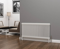 Eastgate Lazarus 2 Column White Horizontal Radiator 600mm High x 1164mm Wide