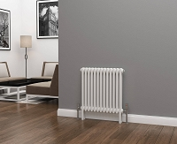 Eastgate Lazarus 2 Column White Horizontal Radiator 600mm High x 592mm Wide