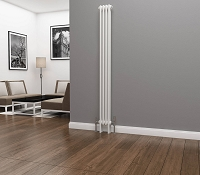 Eastgate Lazarus 2 Column White Vertical Radiator 1800mm High x 196mm Wide