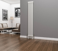 Eastgate Lazarus 2 Column White Vertical Radiator 1800mm High x 284mm Wide
