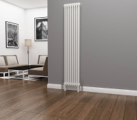 Eastgate Lazarus 2 Column White Vertical Radiator 1800mm High x 372mm Wide