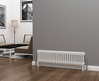 Eastgate Lazarus 3 Column White Horizontal Radiator 300mm High x 1177mm Wide