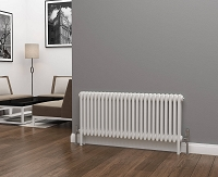 Eastgate Lazarus 3 Column White Horizontal Radiator 500mm High x 1177mm Wide