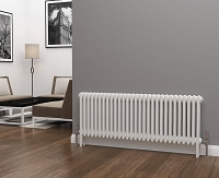 Eastgate Lazarus 3 Column White Horizontal Radiator 500mm High x 1355mm Wide