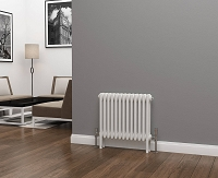 Eastgate Lazarus 3 Column White Horizontal Radiator 500mm High x 599mm Wide