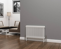 Eastgate Lazarus 3 Column White Horizontal Radiator 500mm High x 777mm Wide