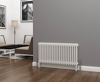 Eastgate Lazarus 3 Column White Horizontal Radiator 500mm High x 999mm Wide