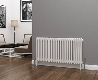 Eastgate Lazarus 3 Column White Horizontal Radiator 600mm High x 1177mm Wide