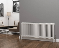 Eastgate Lazarus 3 Column White Horizontal Radiator 600mm High x 1355mm  Wide