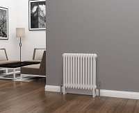 Eastgate Lazarus 3 Column White Horizontal Radiator 600mm High x 599mm Wide