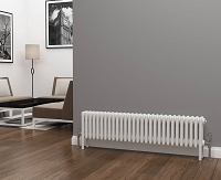 Eastgate Lazarus 4 Column White Horizontal Radiator 300mm High x 1340mm Wide