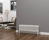 Eastgate Lazarus 4 Column White Horizontal Radiator 300mm High x 988mm Wide