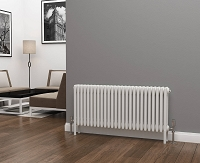 Eastgate Lazarus 4 Column White Horizontal Radiator 500mm High x 1164mm Wide