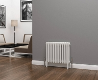 Eastgate Lazarus 4 Column White Horizontal Radiator 500mm High x 592mm Wide