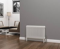 Eastgate Lazarus 4 Column White Horizontal Radiator 500mm High x 768mm Wide