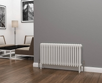 Eastgate Lazarus 4 Column White Horizontal Radiator 500mm High x 988mm Wide