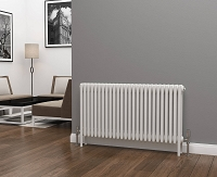 Eastgate Lazarus 4 Column White Horizontal Radiator 600mm High x 1164mm Wide