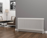 Eastgate Lazarus 4 Column White Horizontal Radiator 600mm High x 1340mm Wide