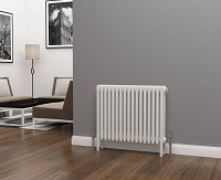 Eastgate Lazarus 4 Column White Horizontal Radiator 600mm High x 768mm Wide