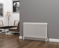 Eastgate Lazarus 4 Column White Horizontal Radiator 600mm High x 988mm Wide