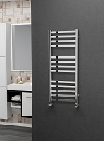 Eastgate Square Tube Stainless Steel Heated Towel Rail 1000mm High x 400mm Wide Electric Only