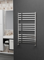 Eastgate Square Tube Stainless Steel Heated Towel Rail 1000mm High x 600mm Wide
