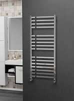 Eastgate Square Tube Stainless Steel Heated Towel Rail 1200mm High x 500mm Wide