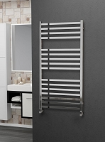 Eastgate Square Tube Stainless Steel Heated Towel Rail 1200mm High x 600mm Wide