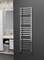 Eastgate Square Tube Stainless Steel Heated Towel Rail 1400mm High x 400mm Wide Electric Only