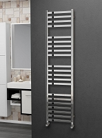 Eastgate Square Tube Stainless Steel Heated Towel Rail 1600mm High x 400mm Wide Electric Only