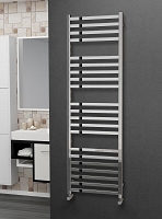Eastgate Square Tube Stainless Steel Heated Towel Rail 1600mm High x 500mm Wide Electric Only