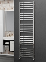 Eastgate Square Tube Stainless Steel Heated Towel Rail 1800mm High x 500mm Wide Electric Only