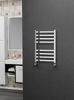 Eastgate Square Tube Stainless Steel Heated Towel Rail 600mm High x 400mm Wide