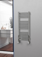 Eastgate Straight Polished 304 Stainless Steel Heated Towel Rail 1000mm High x 400mm Wide Electric Only