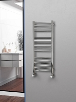 Eastgate Straight Polished 304 Stainless Steel Heated Towel Rail 1000mm High x 400mm Wide