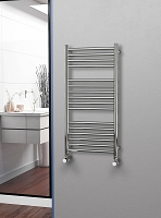 Eastgate Straight Polished 304 Stainless Steel Heated Towel Rail 1000mm High x 500mm Wide