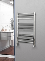 Eastgate Straight Polished 304 Stainless Steel Heated Towel Rail 1000mm High x 600mm Wide Electric Only