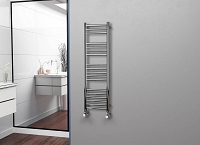 Eastgate Straight Polished 304 Stainless Steel Heated Towel Rail 1200mm High x 350mm Wide Electric Only