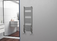 Eastgate Straight Polished 304 Stainless Steel Heated Towel Rail 1200mm High x 400mm Wide Electric Only