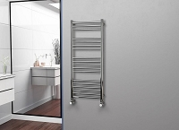 Eastgate Straight Polished 304 Stainless Steel Heated Towel Rail 1200mm High x 500mm Wide Electric Only