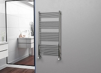 Eastgate Straight Polished 304 Stainless Steel Heated Towel Rail 1200mm High x 600mm Wide Electric Only