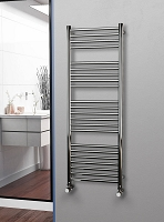 Eastgate Straight Polished 304 Stainless Steel Heated Towel Rail 1400mm High x 500mm Wide