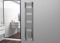 Eastgate Straight Polished 304 Stainless Steel Heated Towel Rail 1600mm High x 350mm Wide Electric Only