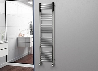 Eastgate Straight Polished 304 Stainless Steel Heated Towel Rail 1600mm High x 400mm Wide Electric Only