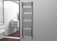 Eastgate Straight Polished 304 Stainless Steel Heated Towel Rail 1600mm High x 500mm Wide Electric Only