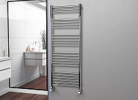 Eastgate Straight Polished 304 Stainless Steel Heated Towel Rail 1600mm High x 600mm Wide Electric Only
