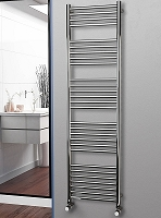 Eastgate Straight Polished 304 Stainless Steel Heated Towel Rail 1800mm High x 500mm Wide Electric Only