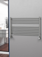 Eastgate Straight Polished 304 Stainless Steel Heated Towel Rail 600mm High x 1000mm Wide