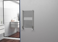 Eastgate Straight Polished 304 Stainless Steel Heated Towel Rail 800mm High x 500mm Wide Electric Only
